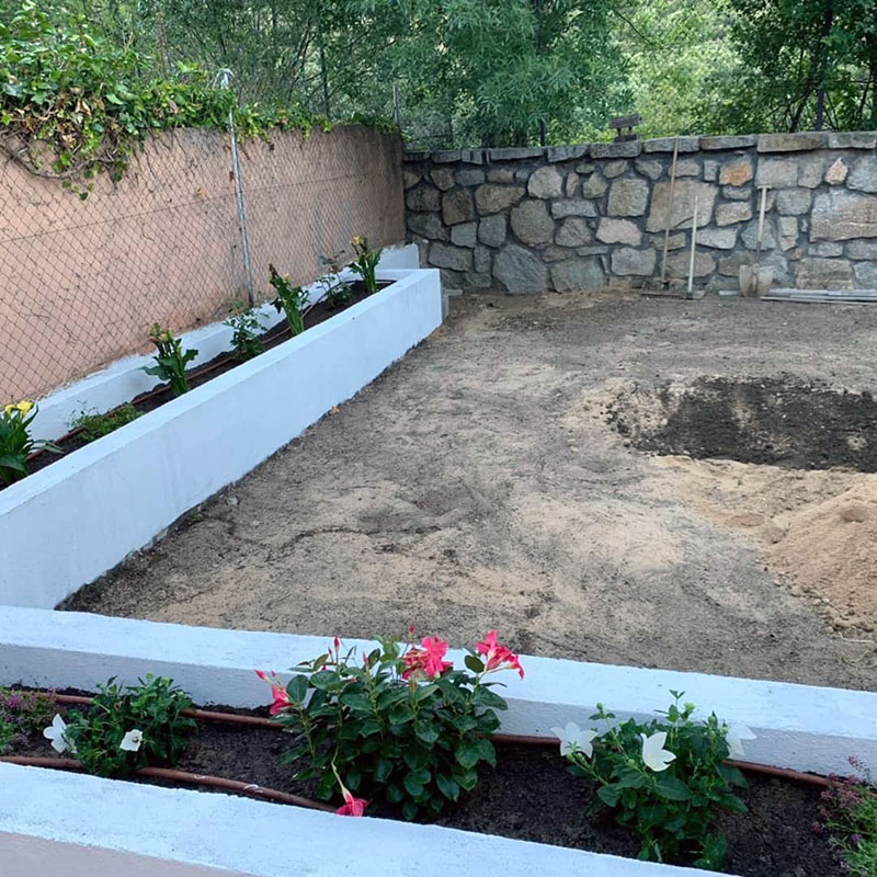 Solados y jardineras de obra - Escorial Green
